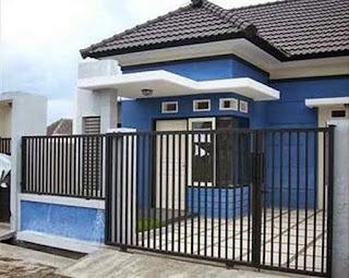 3 Contoh Cat Rumah Minimalis Warna Cat Biru