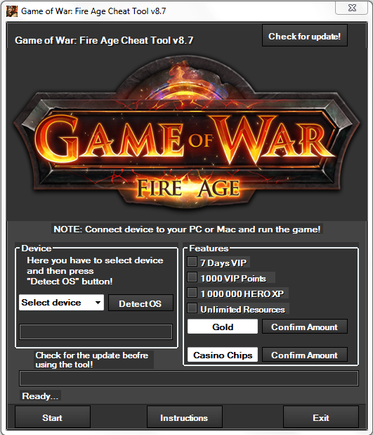 Game of War Fire Age Hack Tool Cheats Update 2014 No Survey No