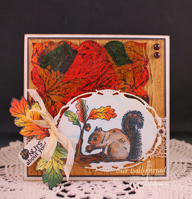 Stamps - Our Daily Bread Designs Leaves Background, Autumn Blessings, Thankful Song, ODBD Custom Fall Leaves and Acorn Die