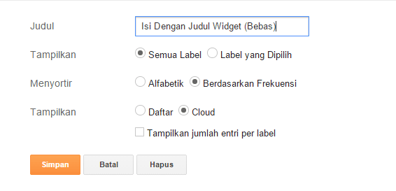 Cara Membuat Widget Label Blogger FlatUI