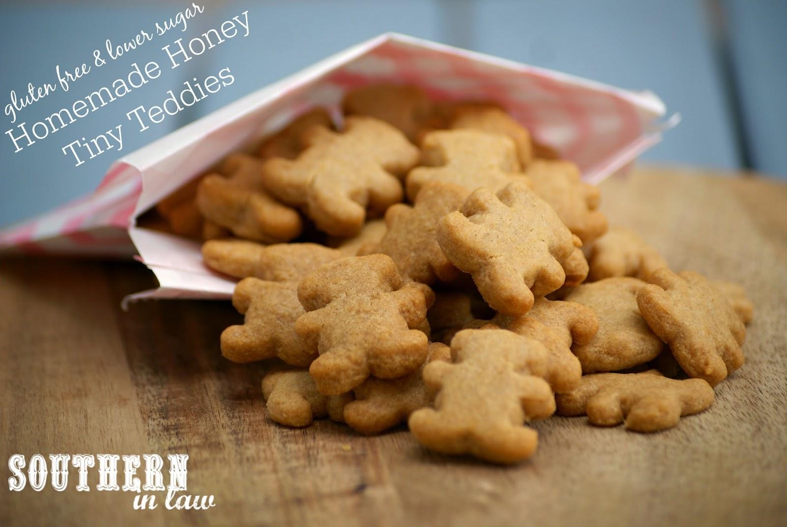 Homemade Gluten Free Honey Tiny Teddies Recipe - gluten free, nut free, egg free, healthy, low sugar