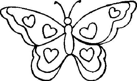 Imagenes de mariposas para pintar - Imagui