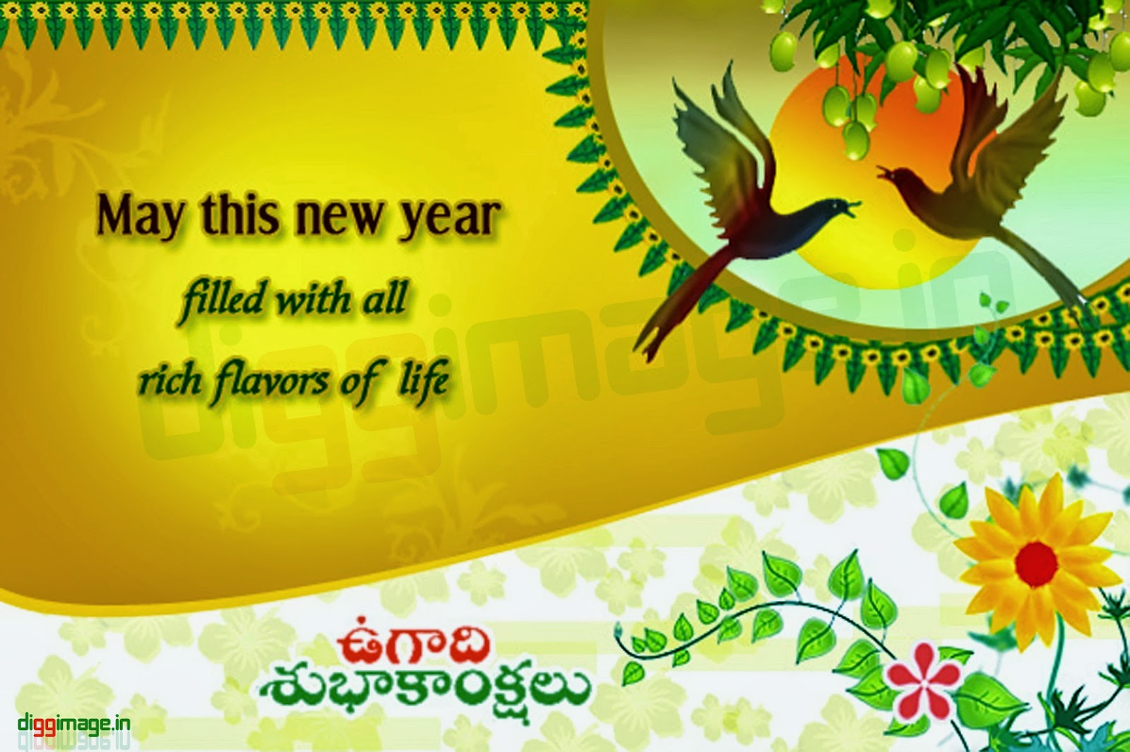 """may this Telugu new year filled with all rich flavors of life """"happy ugadi"""""""