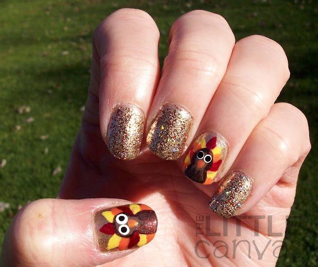 happy thanksgiving turkey nail