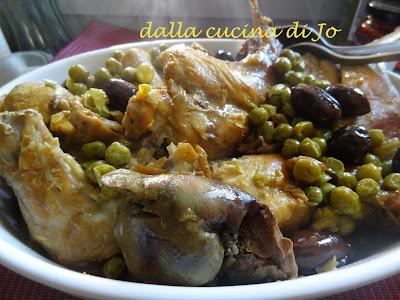 coniglio zafferano e olive