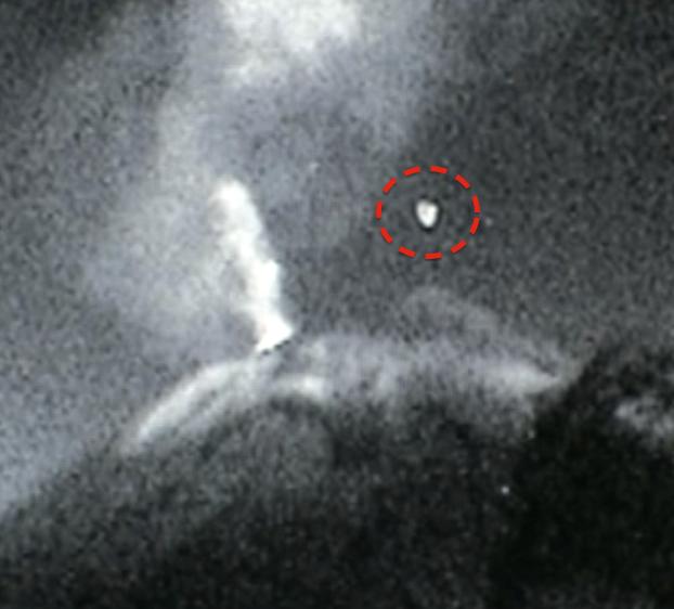 UFO Meksikon tulivuoren yllä