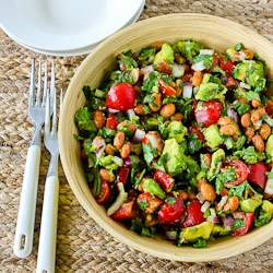 ... Pinto Bean Salad Recipe with Avocado, Tomatoes, Red Onion, and