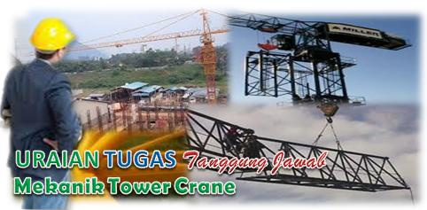 Uraian Tugas Mekanik Tower Crane