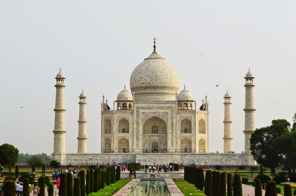 taj mahal front wallpaper