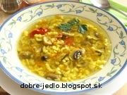 Jemná hubová polievka - recept