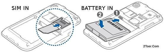 Insert SIM Card Install slot Assemble BatteryCompartment Samsung Galaxy S Plus GT I9001