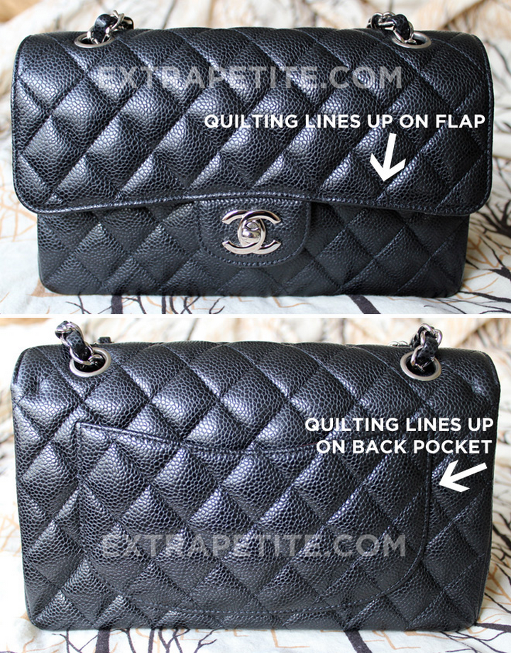 027a116908a5 Always check if the quilt stitching on flap and pocket match the body. On  an authentic Chanel