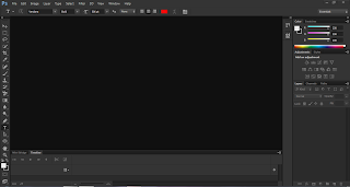 The ugly and Black colored interface of Photoshop CS6 - Learn how to change the color of photoshop CS6 interface