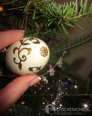 bead caps finish off blown, decorated eggs simply and elegantly