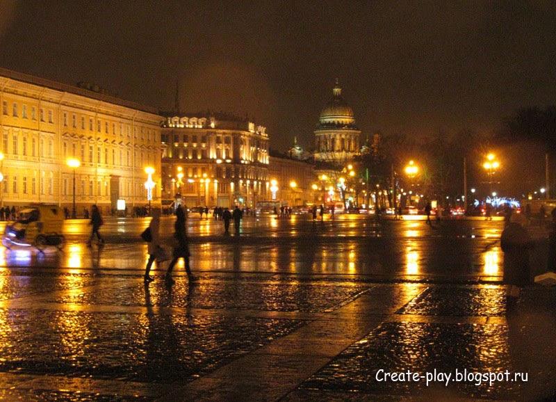 Ночной Петербург зимой