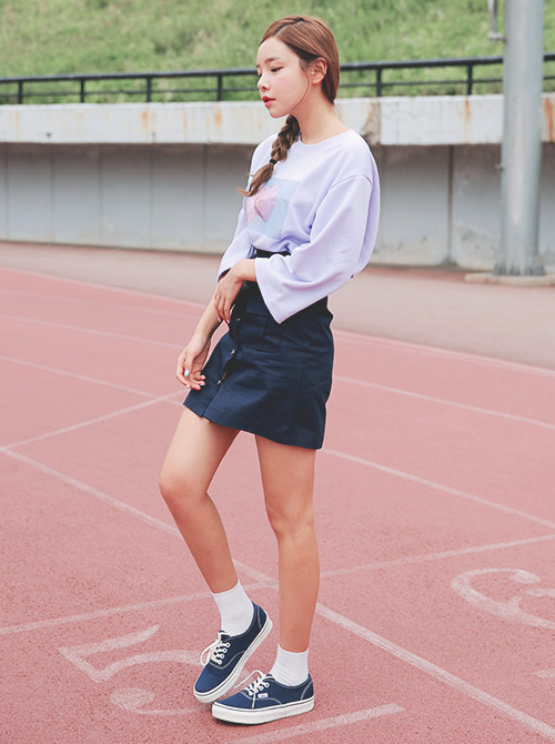 Front Closed Flared Skirt