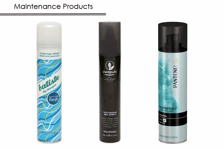 Hair care Batiste fresh dry shampoo Awapuhi sea spray Pantene Pro-V hairspray