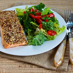... sesame crusted salmon with orange miso sauce easy pecan crusted dijon