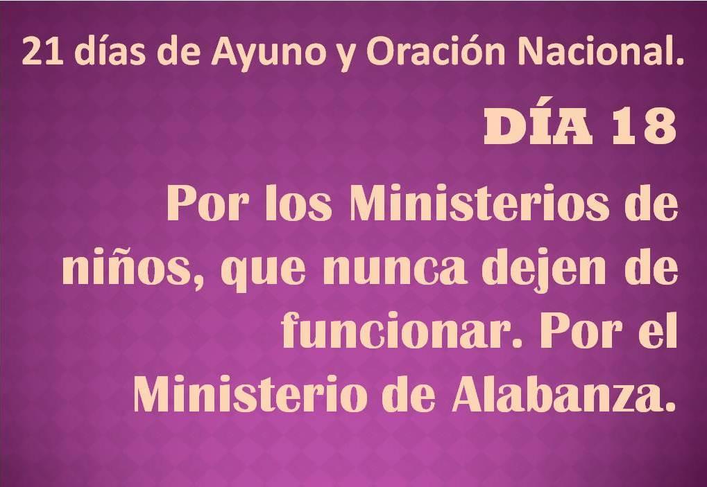 Oración del día 18.