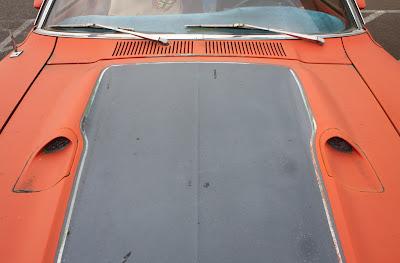 1972 Ford Maverick Grabber hood.