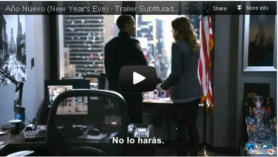 Trailer de la Pelicula New Year's Eve HD 720p 2012