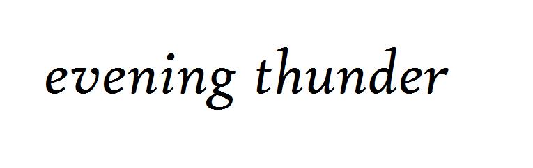 evening thunder