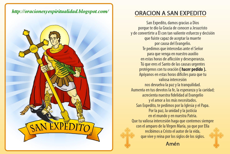 ORACIONES Y ESPIRITUALIDAD: Oración a SAN EXPEDITO...