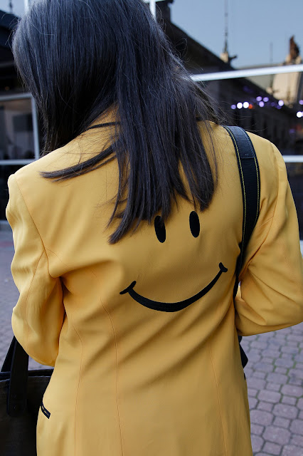 yellow, smile, blazer, girl, fashion
