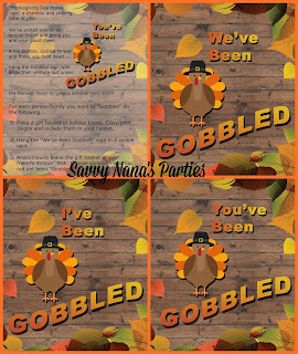 You've Been Gobbled - FREE Printable Signs! - Savvy Nana