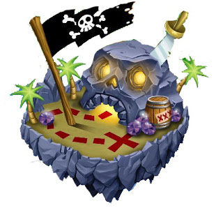 isla de la busqueda pirata de dragon city