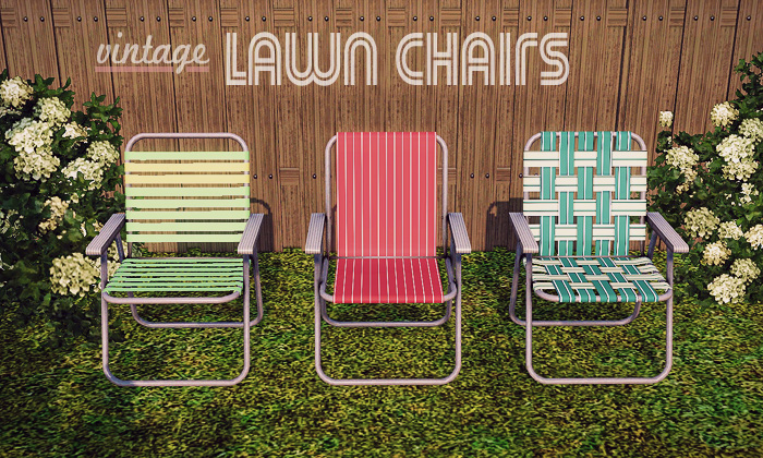 Gelina's Sims 3 Blog: Vintage Lawn Chairs