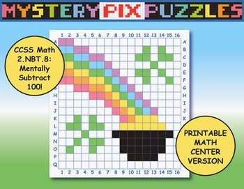 http://www.teacherspayteachers.com/Product/Pot-of-Gold-Mystery-Pix-Puzzle-Printable-Math-Center-559624