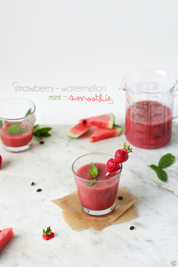 Strawberry-Watermelon-Mint Smoothie