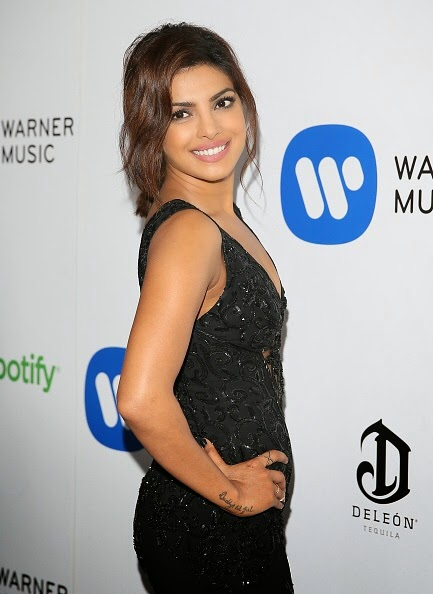 Priyanka Chopra in Black Dress at GRAMMY After Party