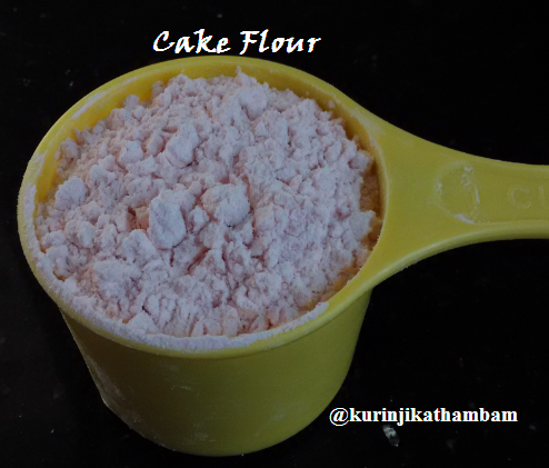 how to make cake flour with arrowroot