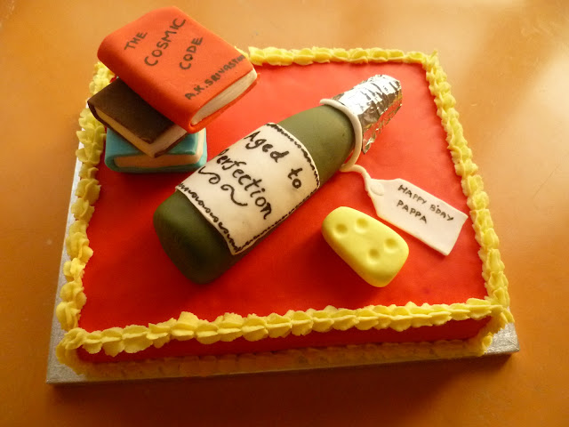 Cake Images Ruchi : RUCHI: Birthday Cake with Edible Handmade Wine Bottle ...