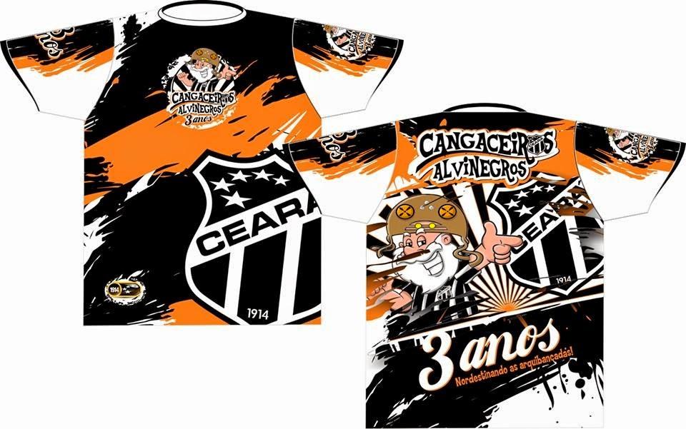 Camisa de 3 anos da torcida CANGACEIROS ALVINEGROS (Click na imagem e tenha mais detalhes)