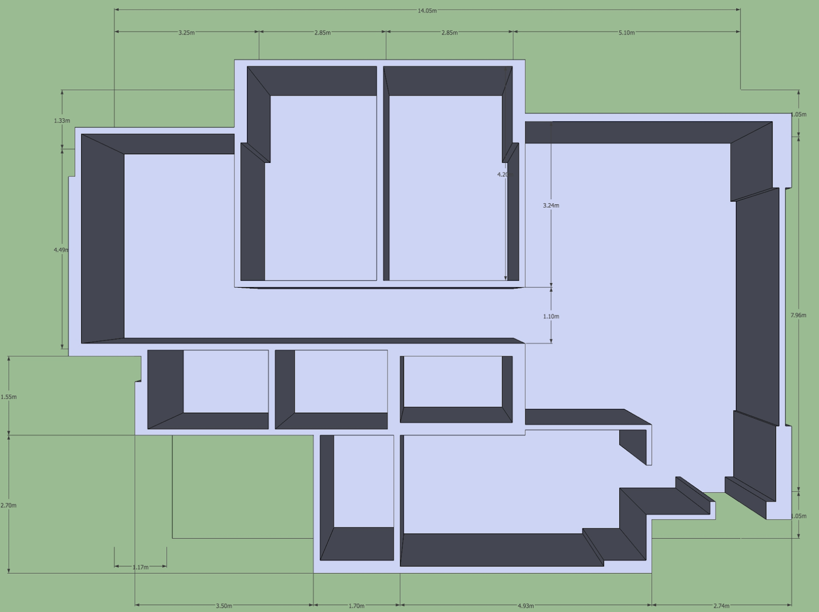 Nice Then I added doors with models from Google Warehouse which has a million models  sc 1 st  Home and Interior Design Ideas & Sketchup Floorplan at Home and Interior Design Ideas
