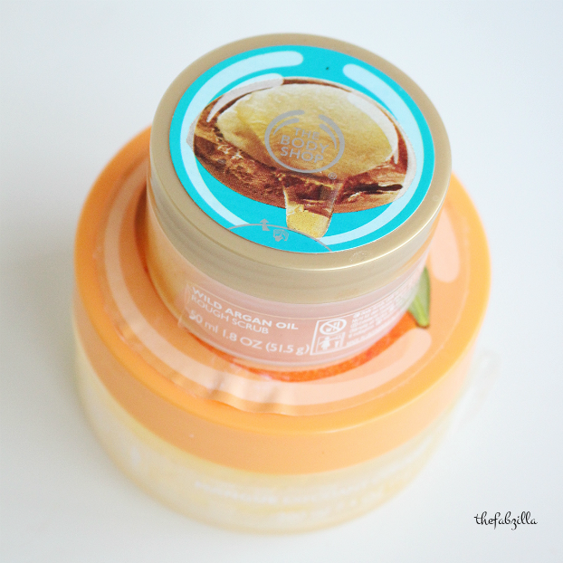 the body shop argan oil body scrub review