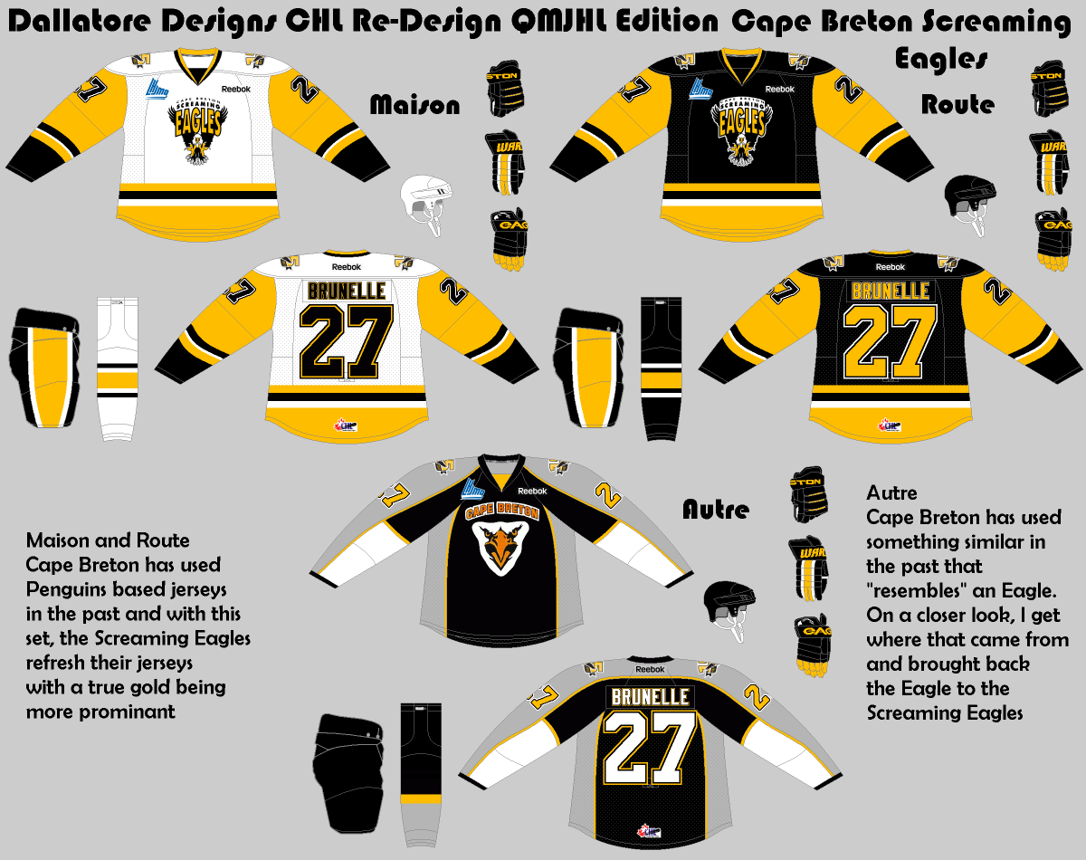 Eagles Black Jersey Green Pants >> Thursday: QMJHL, AHL, IIHF, and some NHL - HockeyJerseyConcepts