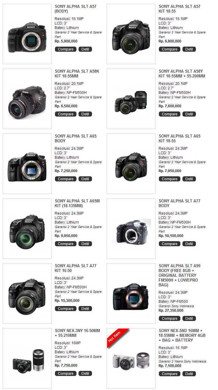 Harga Kamera DSLR Terbaik |Kamera Digital Murah Terbaru 2013