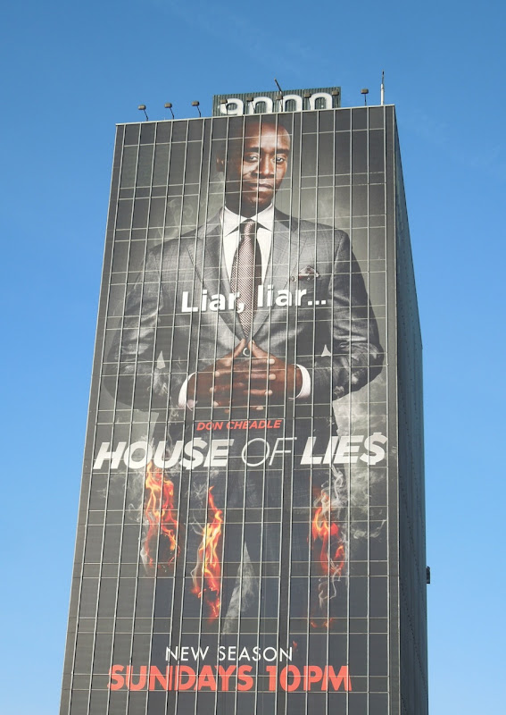 Giant Don Cheadle House of Lies season 2 billboard
