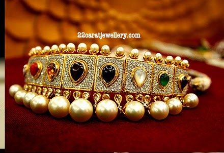 Kundan Choker Necklace by Tanishq Jewellery - Jewellery Designs