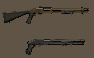 close quarters shotguns, custom 870 pump door breacher ghost ring sights Rez Resolution Residue