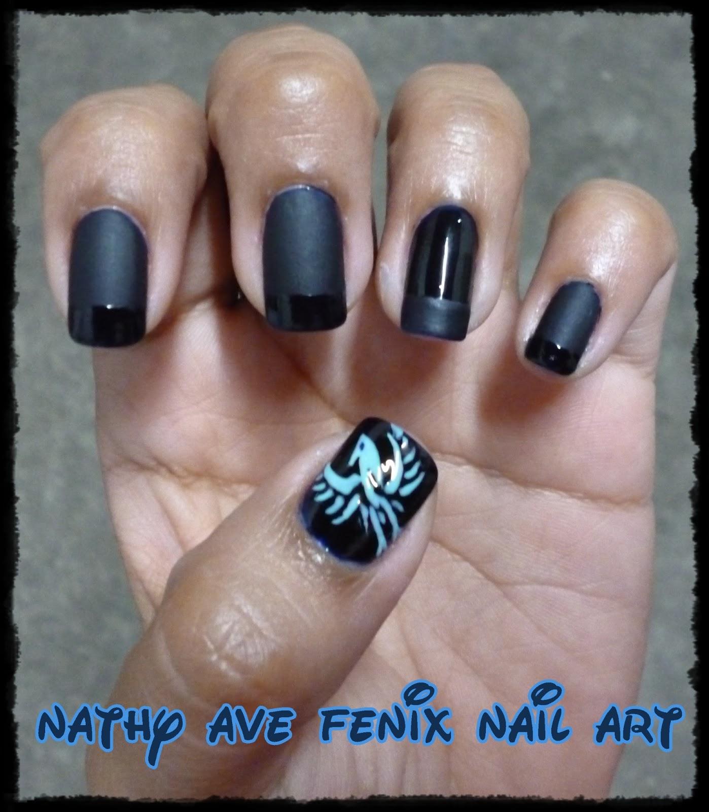 Nail Art Pik Avenue: NATHY AVE FENIX NAIL ART