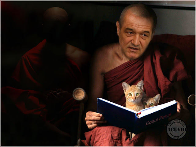 George Becali funny photo Meditatie