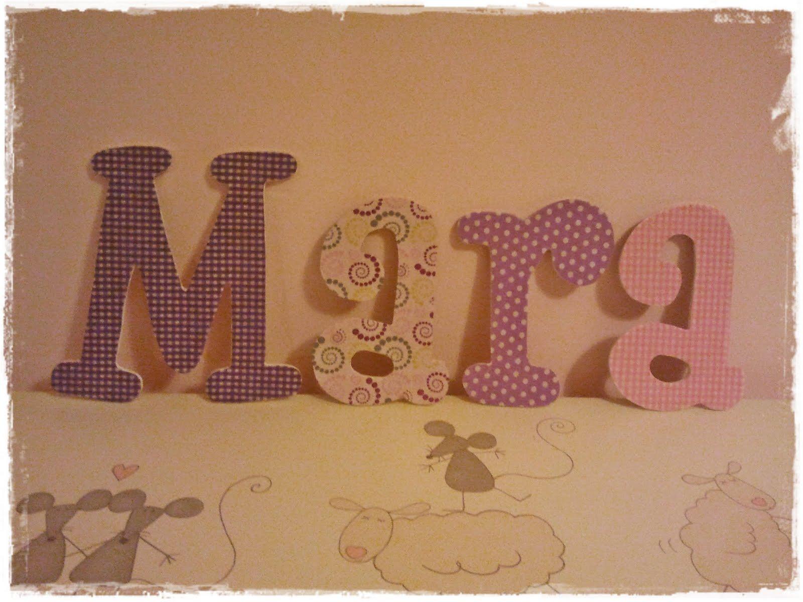 Qu de cucadas letras de pared para mara ganadora del - Letras para pared ...