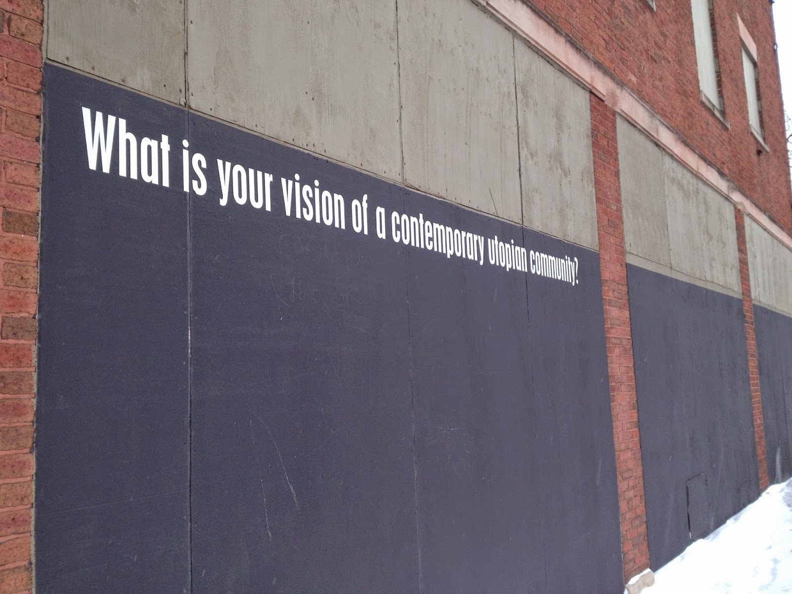 What is your vision of a contemporary utopia community?