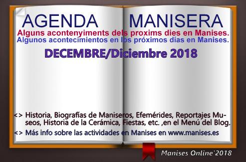 AGENDA MANISERA, DICIEMBRE 2018