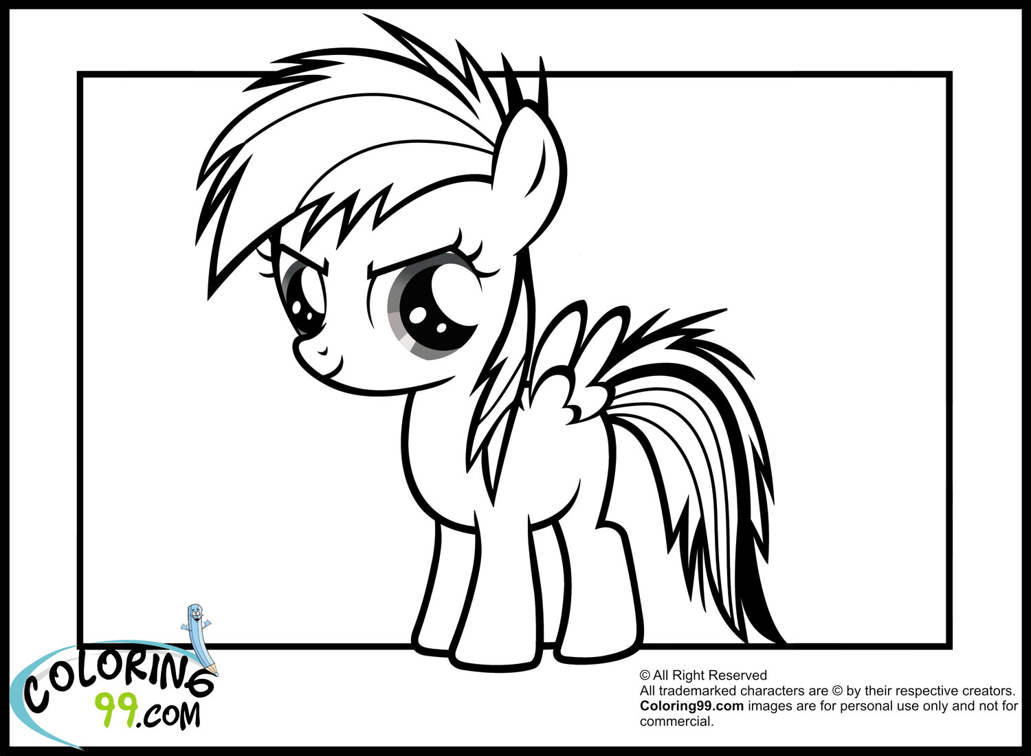 Rainbow Dash Coloring Pages Team
